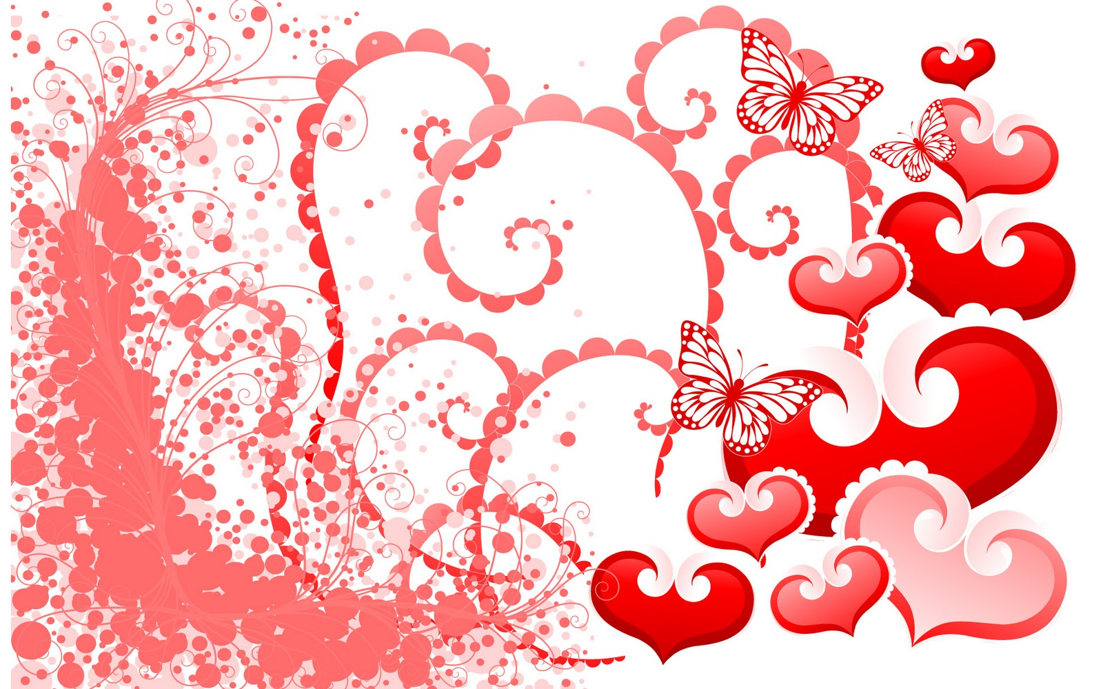 Butterfly Valentine Day Wallpaper
