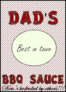 Sweetly scrapped free dad 39 s bbq sauce label for Bbq sauce label template