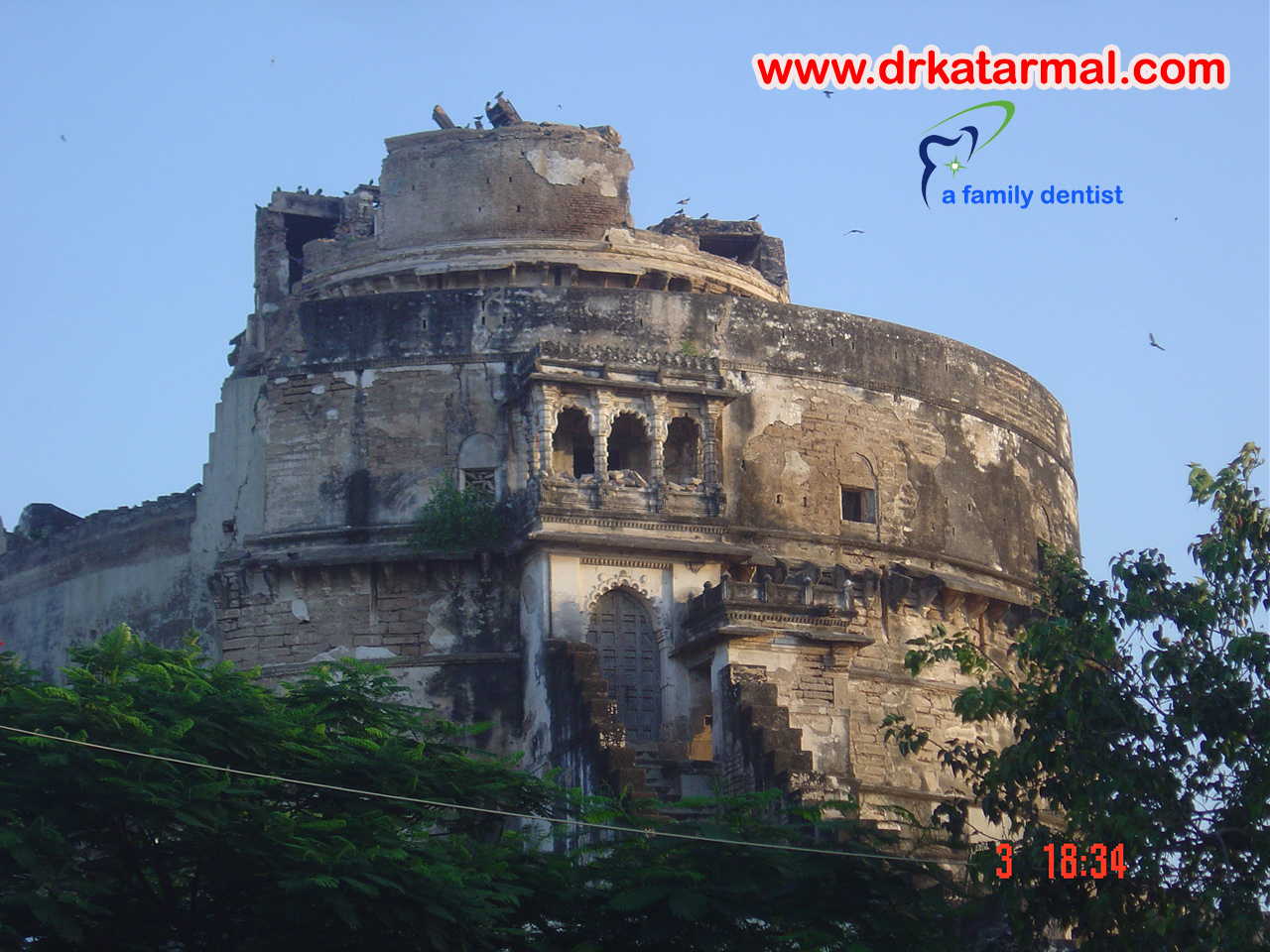bhujio kotho is famous tourist point of jamnagar, gujarat.