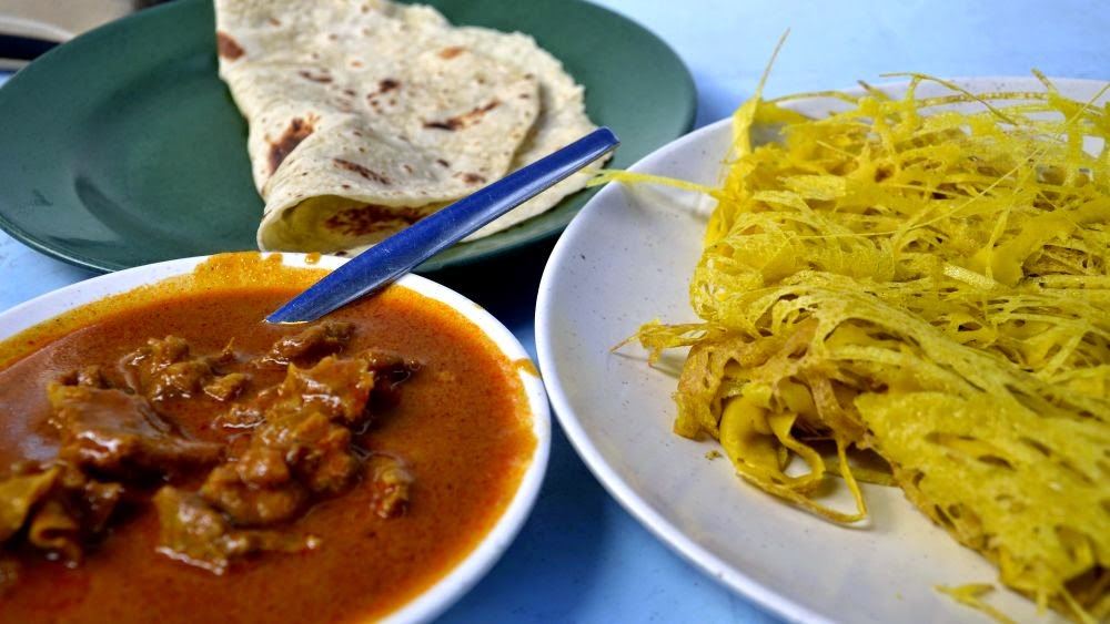 Roti jala mamak di Little India, Penang