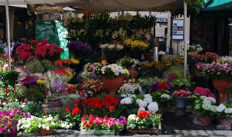 Blumenstand auf der Campo de' Fiori (Rom)