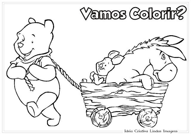 Desenho do Turma do Ursinho Pooh para colorir