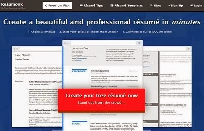 Resumonk Free Online Resume Builder with many templates