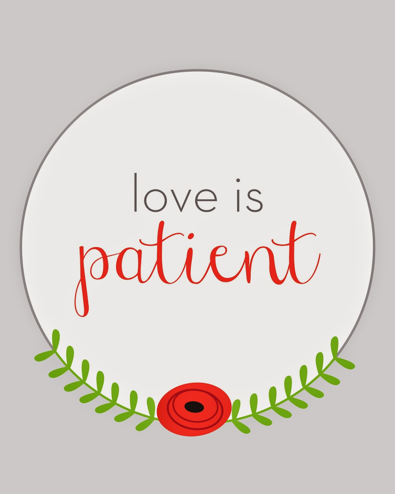 Free Printable: love is patient | hillmade.blogspot.com