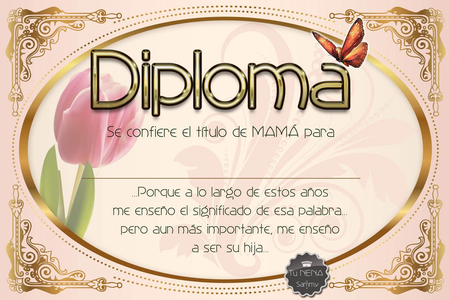 Diploma para mi mamá