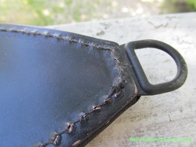 Ka-Bar Kukri Machete - Closeup Of Awful Stitching