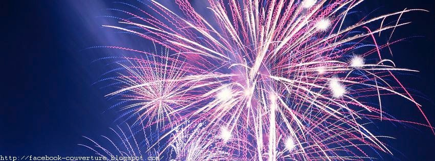 Belle couverture facebook d'un feu d'artifice