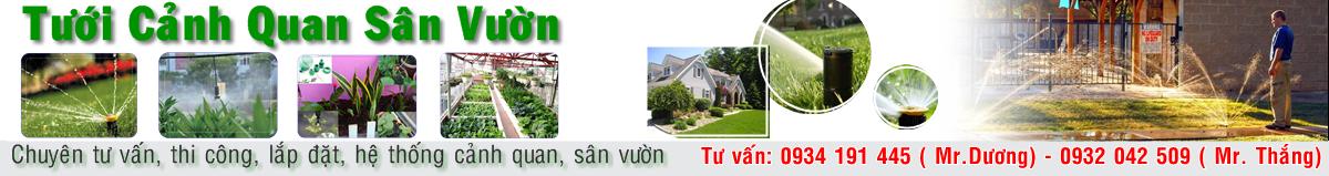 Tư vấn, thi công, lắp đặt hệ thống tưới cảnh quan, sân vườn.