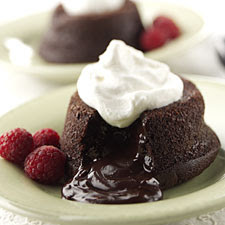 Chocolate Lava Cupcakes With Strawberry