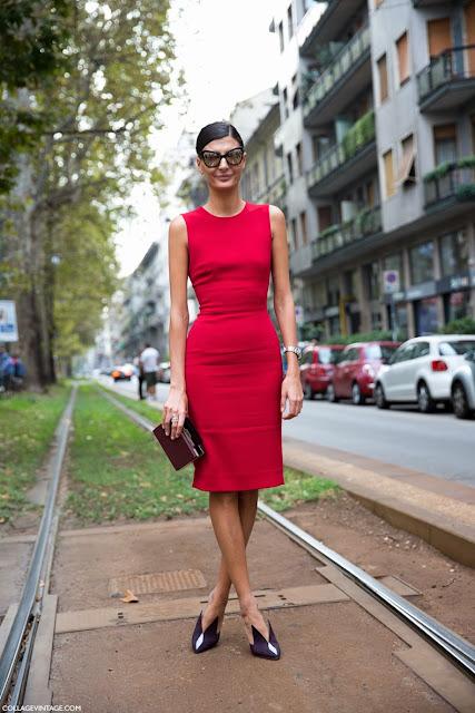 vestido vermelho justo