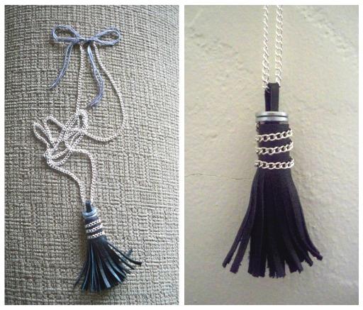 Make Your Own Tassel Necklace: A Red Envelope: DIY Leather Tassel Necklace
