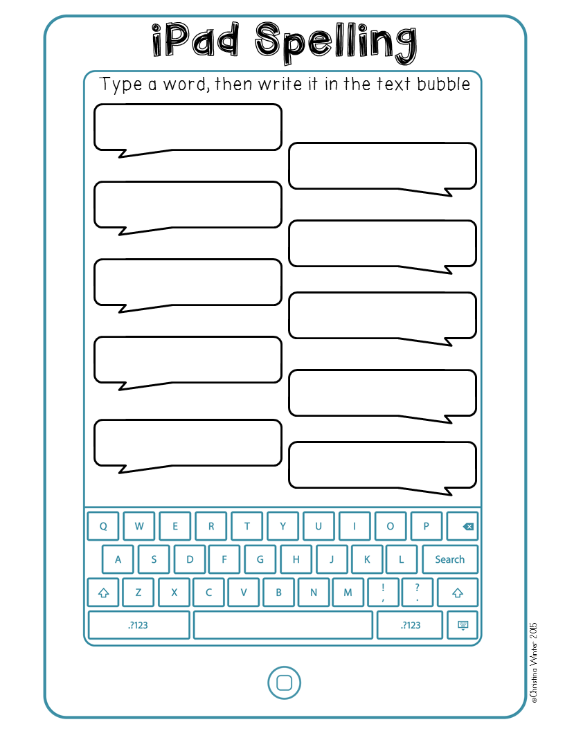 Word Work Worksheets : Spelling activities a freebie mrs winter s bliss