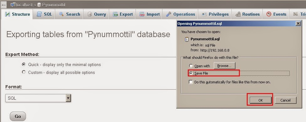 how to create user in database