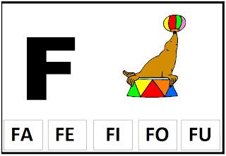 fichas silabicas para sala de aula letra f