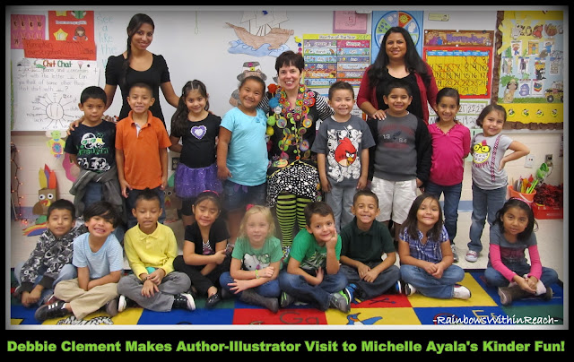 "photo of: Debbie Clement Author Visit to Michelle Ayala's ""Kinder Fun"" Class"