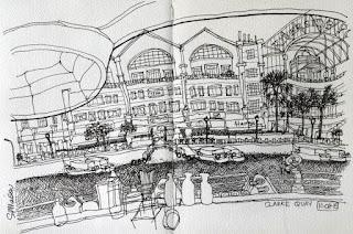 Clarke Quay sketch