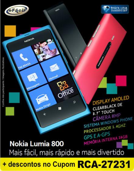Smartphone Nokia Lumia 800 Desbloqueado