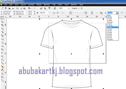 Goresan Sebuah Pena Desain Kaos Dengan Coreldraw X5 X6 X7