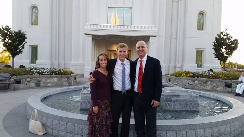 Outside Brigham City Temple