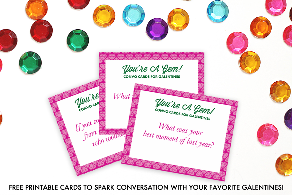 picture regarding Printable Conversation Cards named oh o, appreciate!: Youre A Gem: Totally free Printable Communication