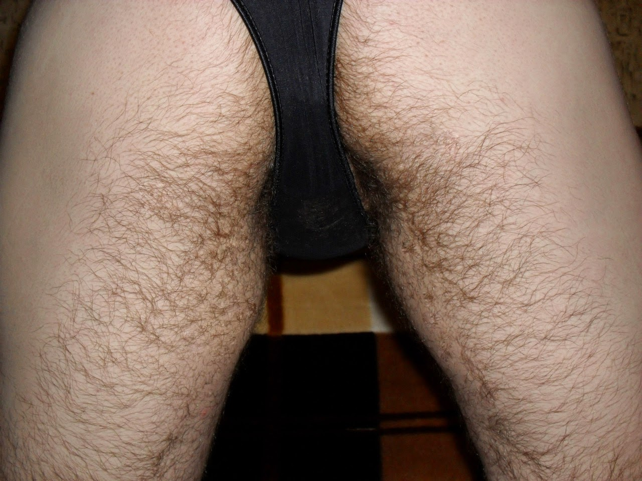 Hairy ass and furry thighs