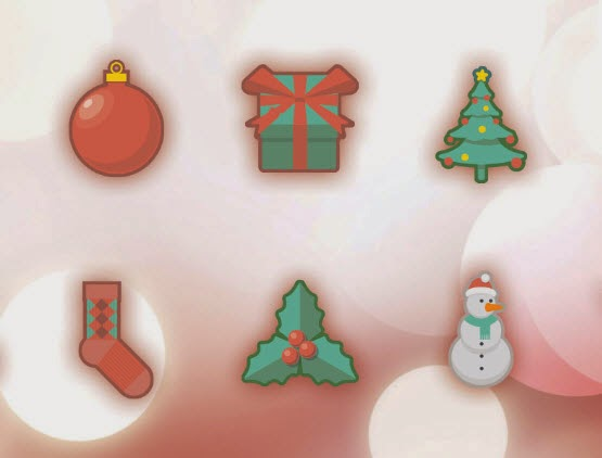 Christmas Holidays Free Icon Set