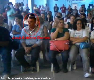 Zé Antônio na assembleia dos Servidores