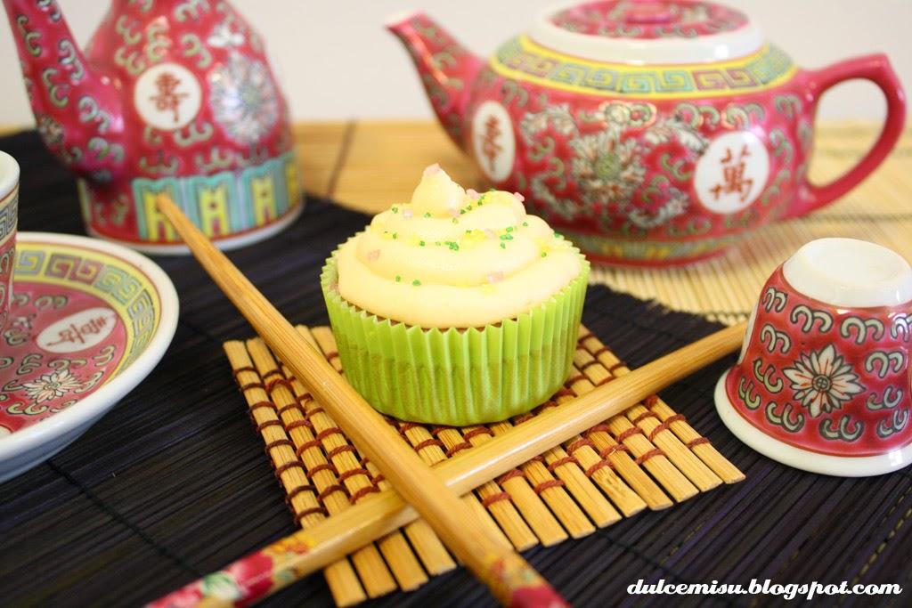 Cupcake, té rooibos, vainilla, lichis, nata, dulcemisu, postre, dulce