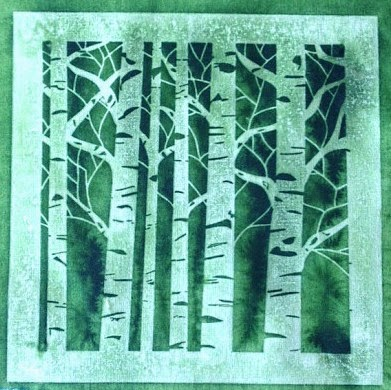 sun printing on fabric with stencils