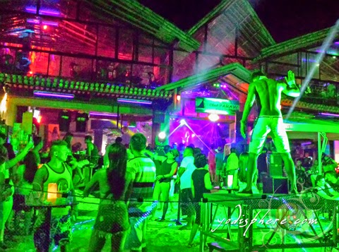 hover_share Beach parties at Boracay where people partying half naked.