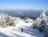 Early season conditions on Gore's Cloud trail.   The Saratoga Skier and Hiker, first-hand accounts of adventures in the Adirondacks and beyond, and Gore Mountain ski blog.