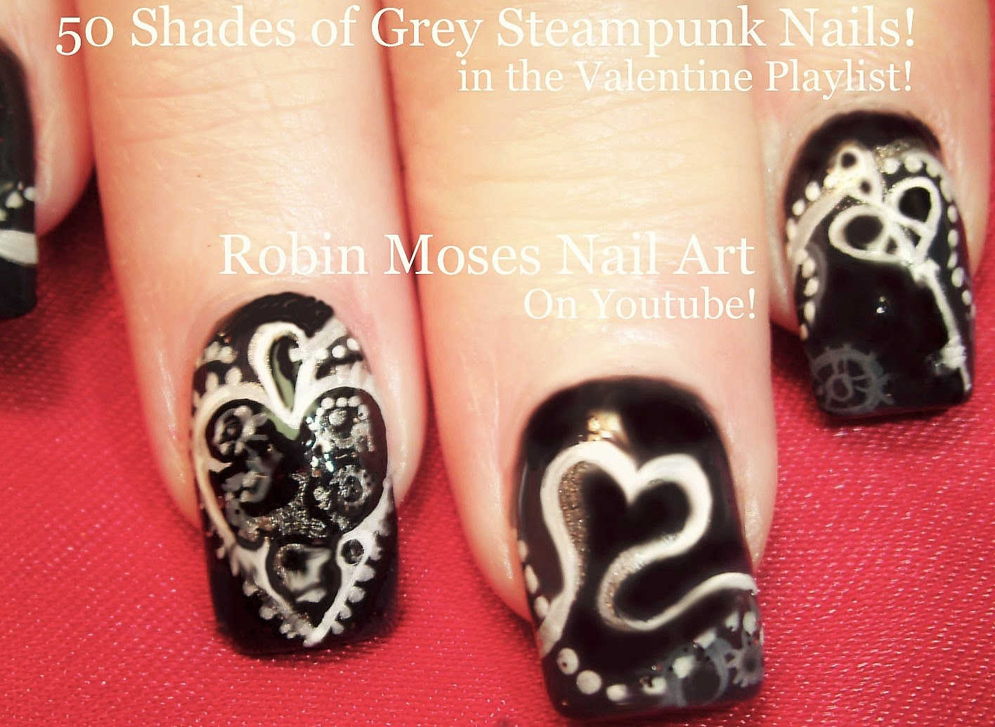 "robin moses nail art: ""fifty shades of grey nails"" ""fifty shades"