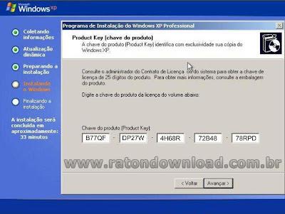 com vários seriais do windows xp maior lista de serial do windows