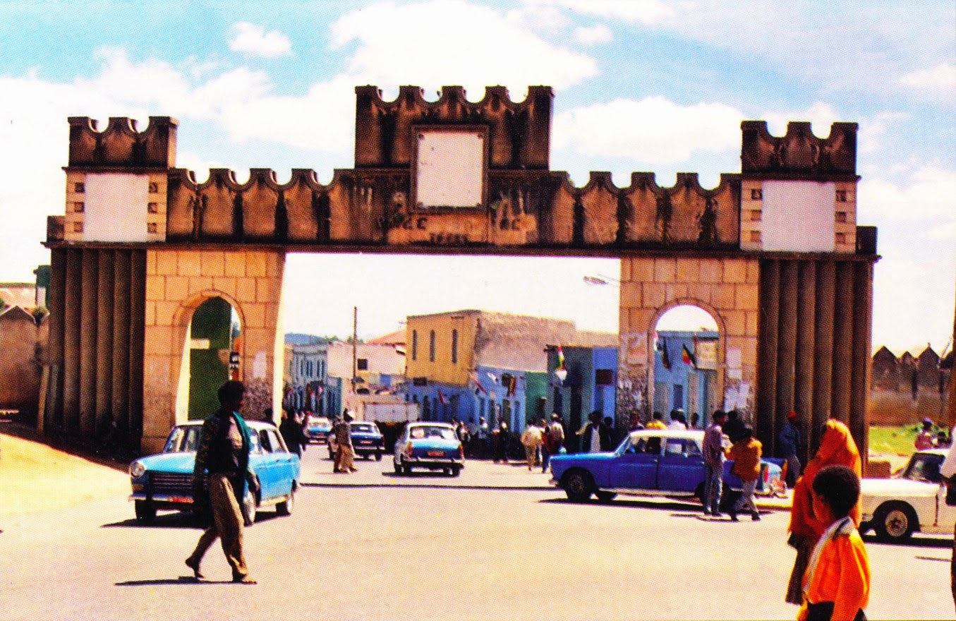 postcard, ethiopia, jugol