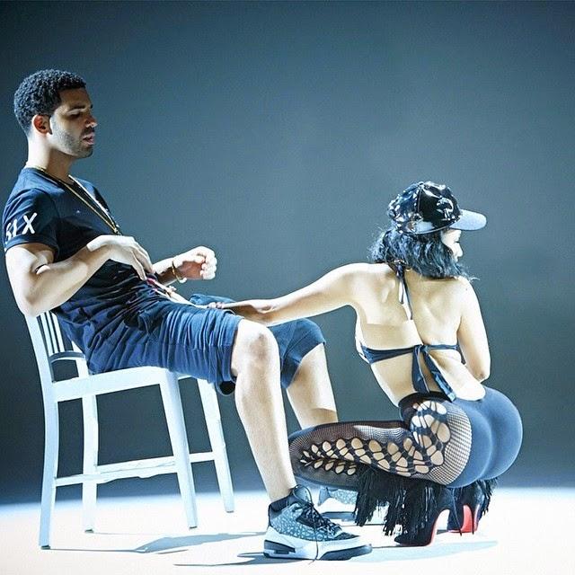 Nicki Minaj toca partes intimas del cantante Drake