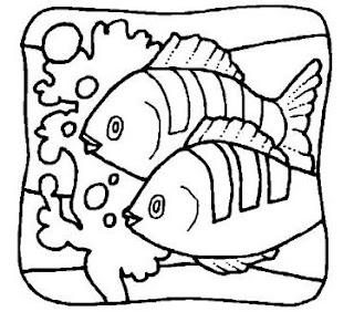 Riscos para pintura de peixinhos