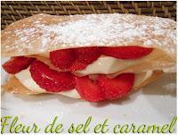 Millefeuille de fraises et mascarpone