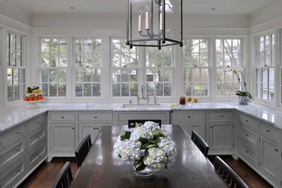 kitchen design with no top cabinets.  The Washington Post Peak of Tr s Chic Kitchen Trend No Upper Cabinets