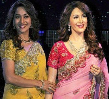 Madhuri-Dixit-Unveils-Wax-Statue-At-Madame-Tussauds