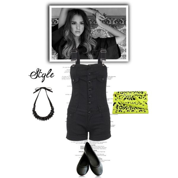 Black rompers with cut out neon clutch.Visit www.forarealwoman.com  #fashion #blogger