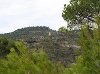 Vista general de la situació del Castell de Calders