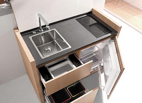 Diseño de cocina compacta para espacios reducidos | Ideas para ...