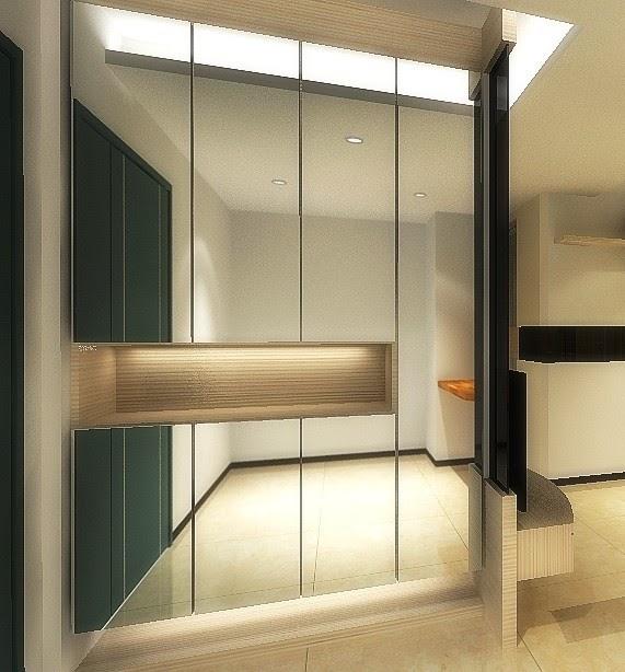 7 Best Online Interior Design Services: Interior Design Kota Kinabalu: Entrance Lobby Cabinet