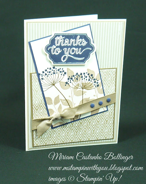 Miriam Castanho Bollinger, #mstampinwithyou, stampin up, demonstrator, dsc, masculine card, thank you, summer silhouettes, happy notes, big shot, lots of labels framelits, candy dots, su
