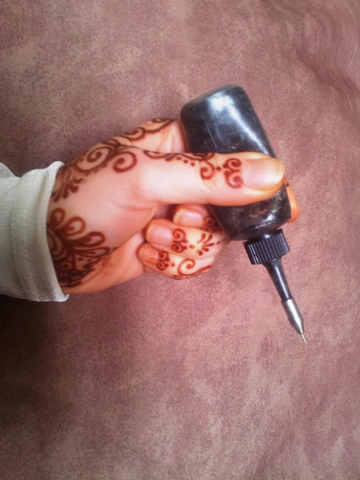 stylo henné pour tatouage - Stylo et feutre pour faire un tatouage temporaire unique