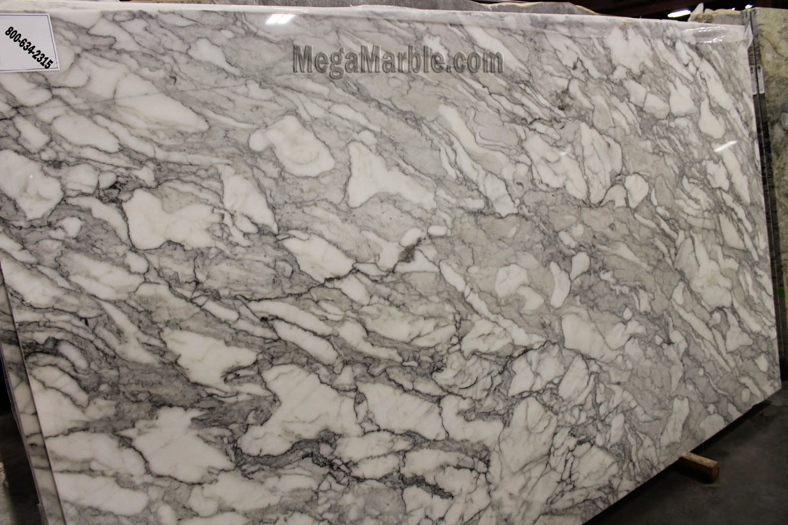 Calacatta australian white marble slabs in New York