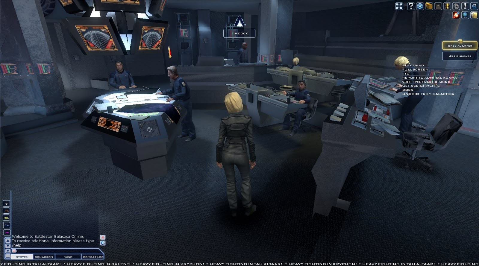 Battlestar Galactica Online - Galactica CIC