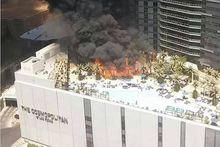Tourists flee Las Vegas hotel blaze