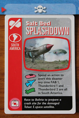 Thunderbirds Co-operative board game - scheme card