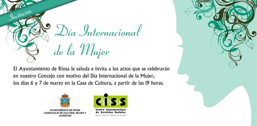 Día Internacional de la Mujer, Riosa, invitación